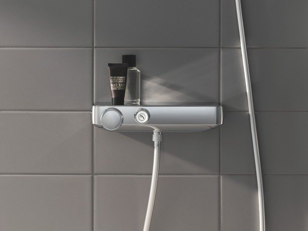 Baterie de dus cu termostat Grohe Grohtherm SmartControl, butoane push, CoolTouch, EasyTray, crom -3